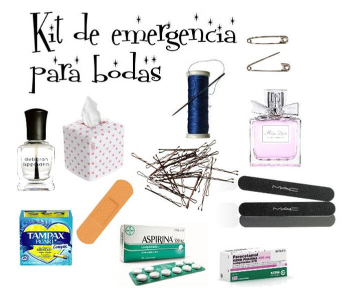 El kit de bodas perfecto debe incluir tiritas, horquillas, aspirina y esmalte de uñas. Foto: Blanca Blanco