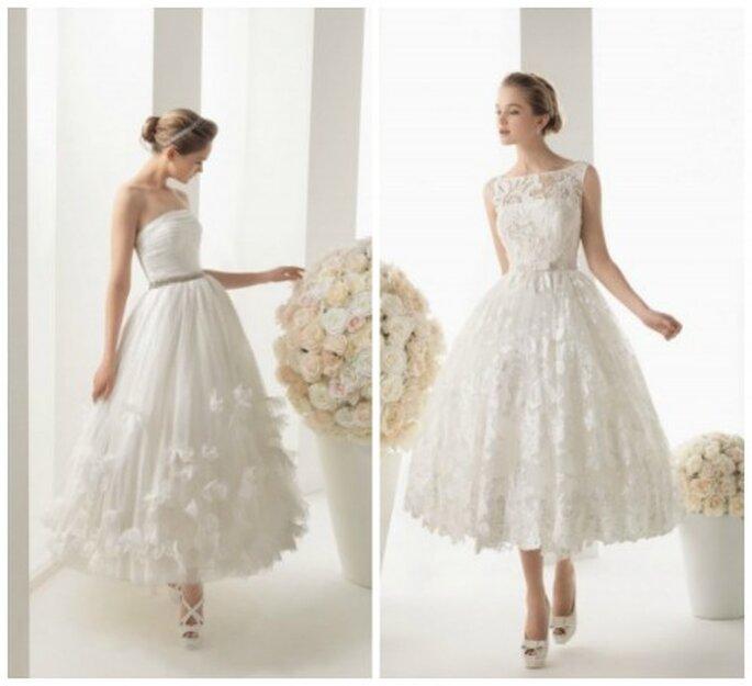 suknie ślubne do łydek tiul