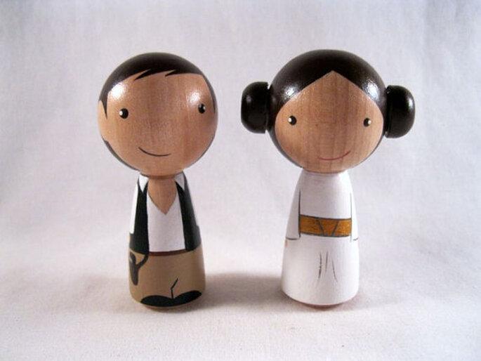 http://www.etsy.com/listing/111311261/kokeshi-princess-leia-han-solo-peg-doll by knottingwood