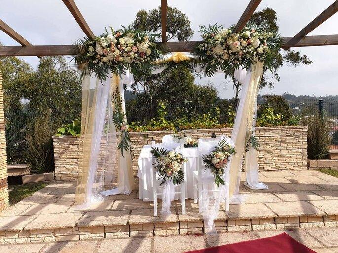 Altar ao ar livre decorado