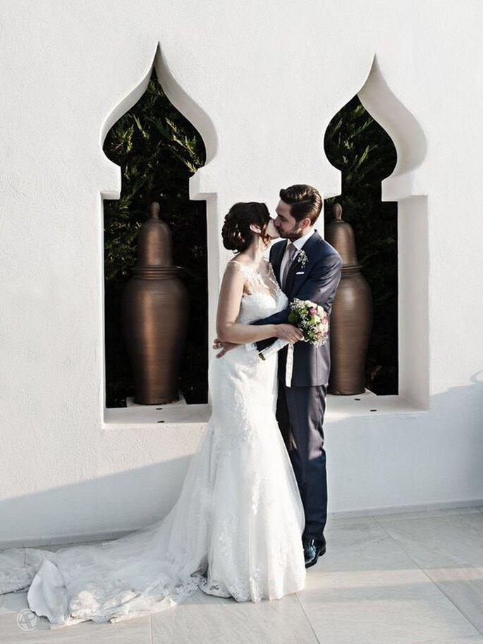 Primo bacio da neo sposi