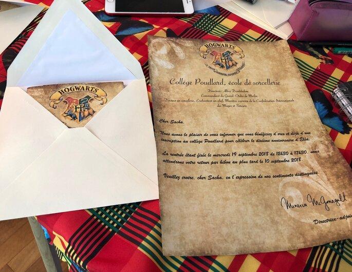 Faire-part design Harry Potter par Com'Lo