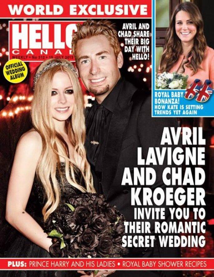 Avril Lavigne y Chad Kroeger se casaron en Francia - Monique Lhuillier Facebook