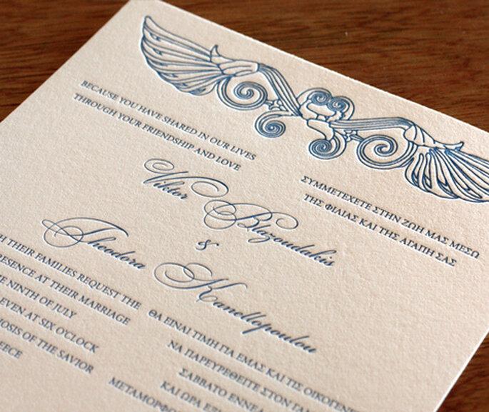 Invitación en dos idiomas, impresos en dos columnas diferentes. Foto: divulgación