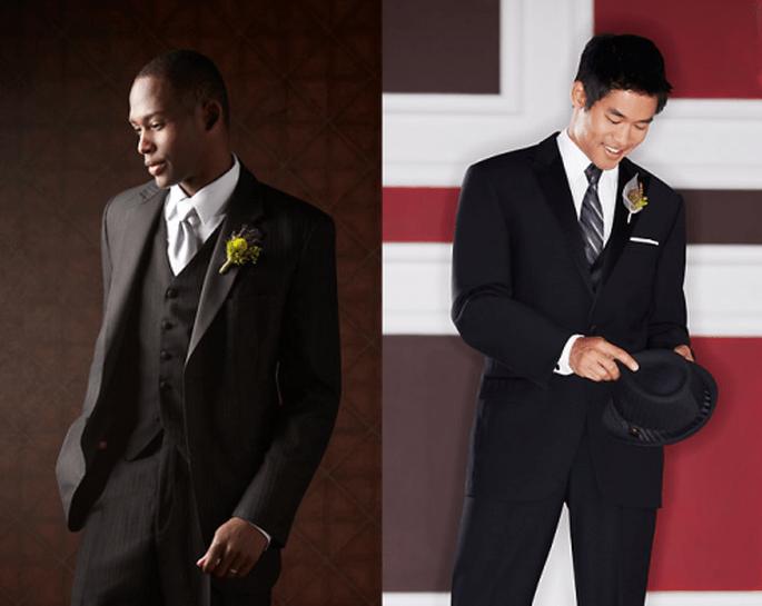 Trajes y esmoquin corte slim fit para un novio con estilo moderno - Foto Men's Wearhouse