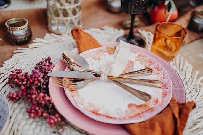 Die Farben des Orients Hochzeitsdekoration Table Setting