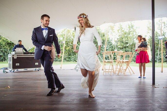 una boda divertida con coreografía