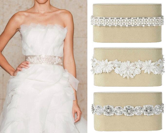Cinturones para vestidos de novia, de Oscar de la Renta 2012