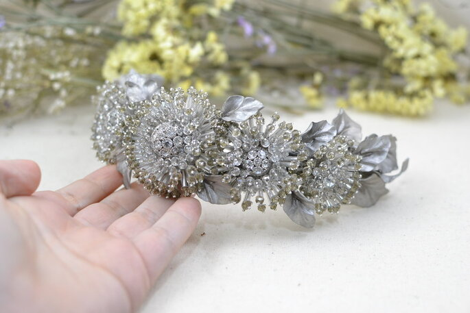 Diadema de lujo para novia