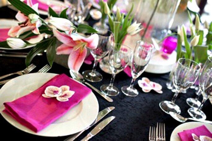 Le noir comme décoration et thème de mariage - Photo : One Day Event