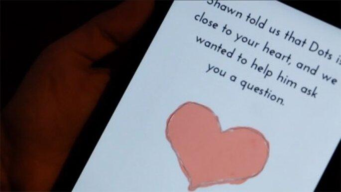 """El juego """"Dots"""" ayuda a un novio a pedir matrimonio - Foto Dots"""