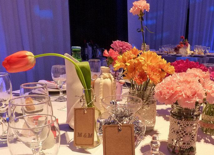 Mesa puesta para la boda. Foto: Maricel - espacio IDEAR
