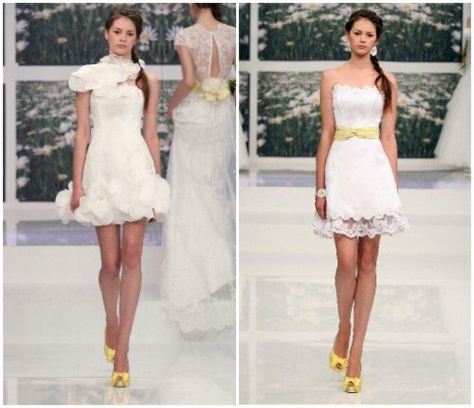 Due modelli corti perfetti per una cerimonia informale o per seconde nozze. Emé di Emé Collezione 2013. Foto: www.emedieme.it
