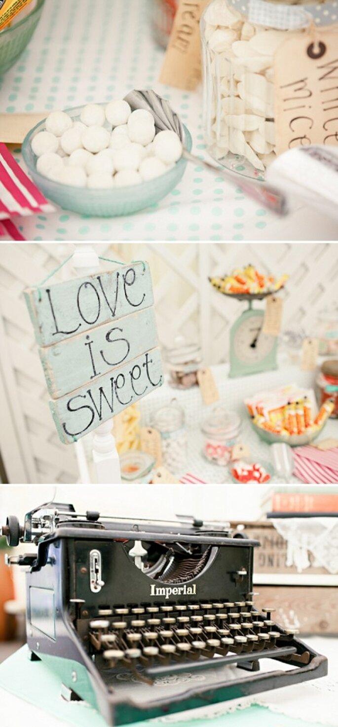 Detalles divertidos y decoración en color menta para tu boda - Foto HBA Photography