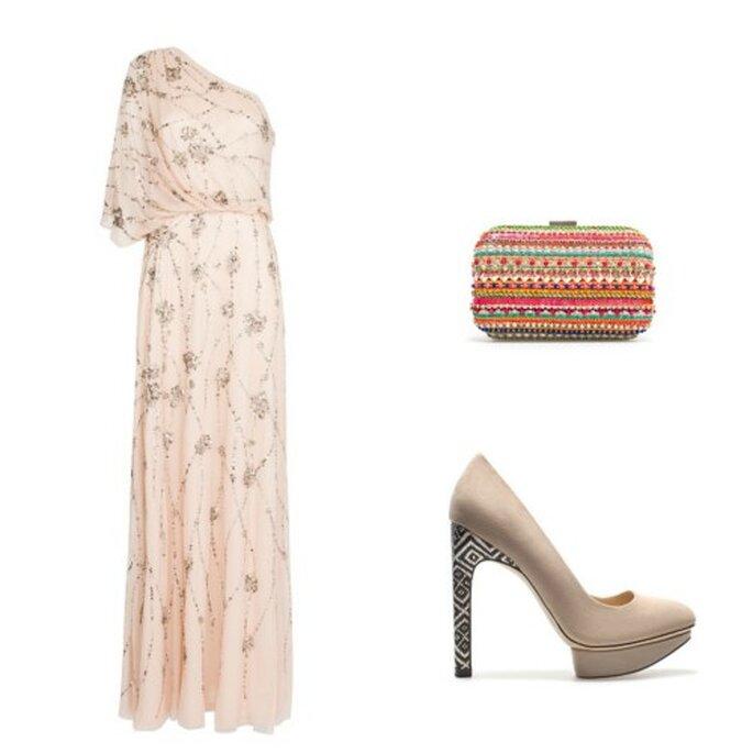 Vestido: Mango. Bolso: Zara. Zapatos: Zara.