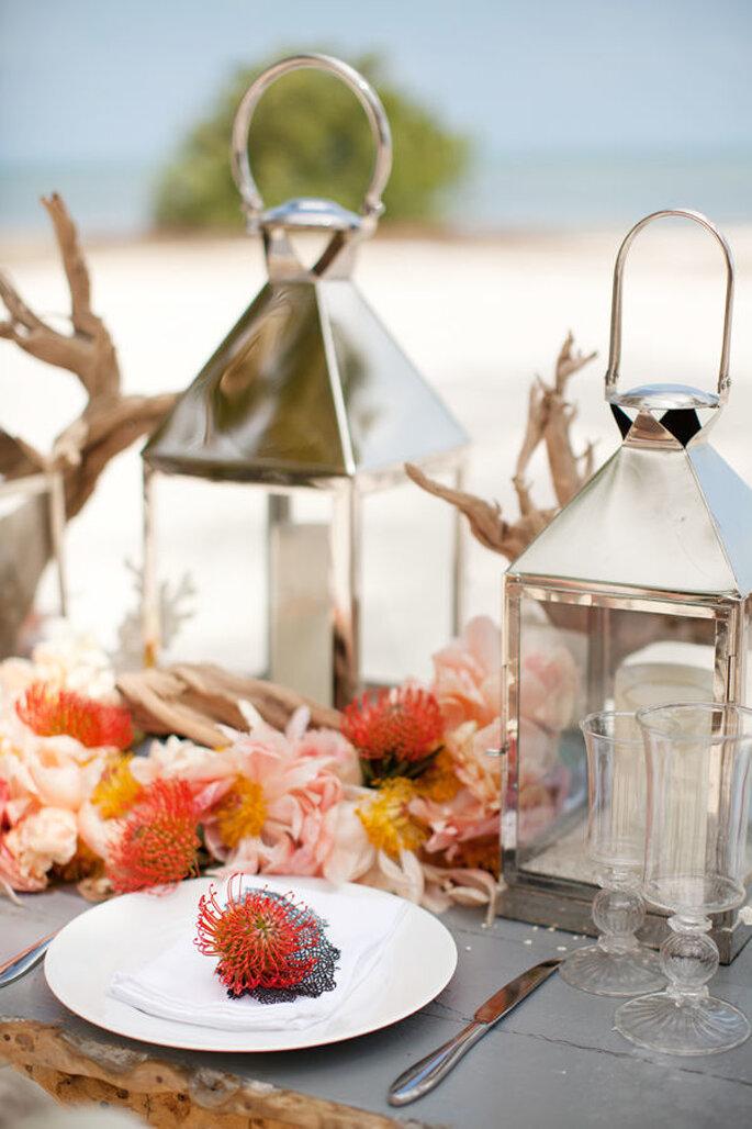 montaje para una boda en la playa- KT Merry