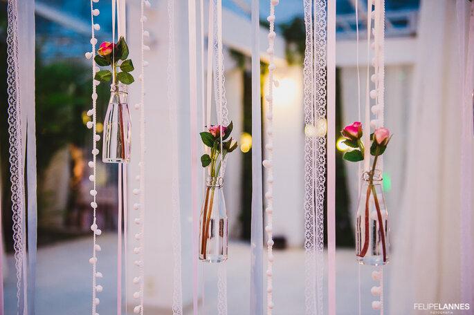 Garrafinhas na decoração