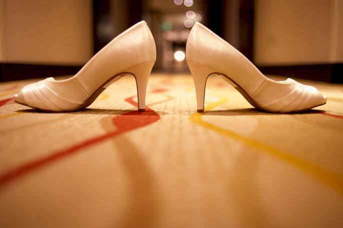 Sapatos da noiva: Santa Scarpa | Foto: Erika Machado