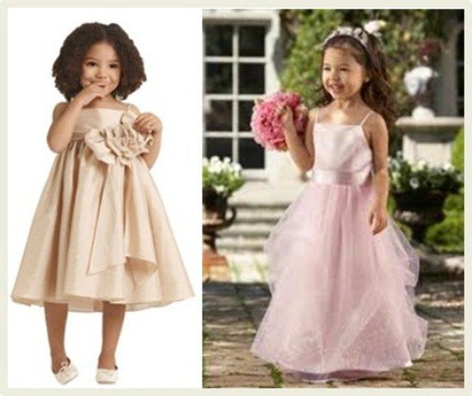 El vestido de las damitas de honor debe armonizar con el traje de la novia