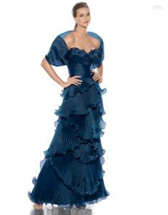 Pronovias Cóctel 2010 - Jubilo, vestido largo azul marino, escote corazón