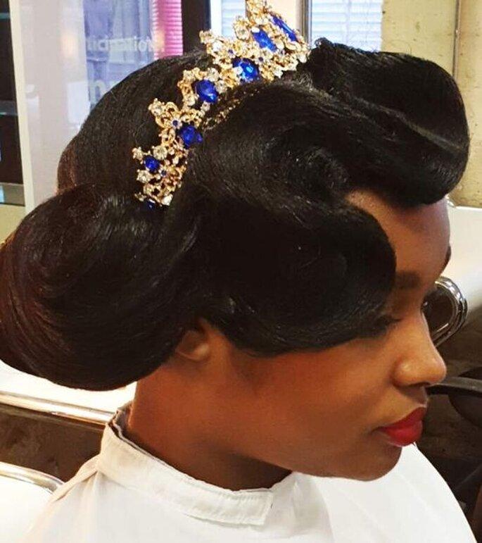 Pour son mariage, la mariée a choisi d'orner ses cheveux d'une couronne