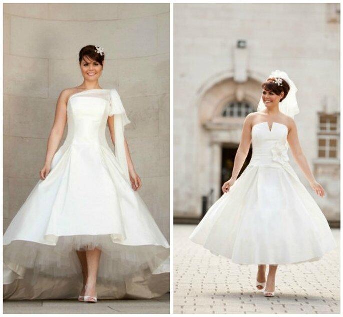 Vestidos de novia inspirados en los años 50. Foto Blue Bridalwear