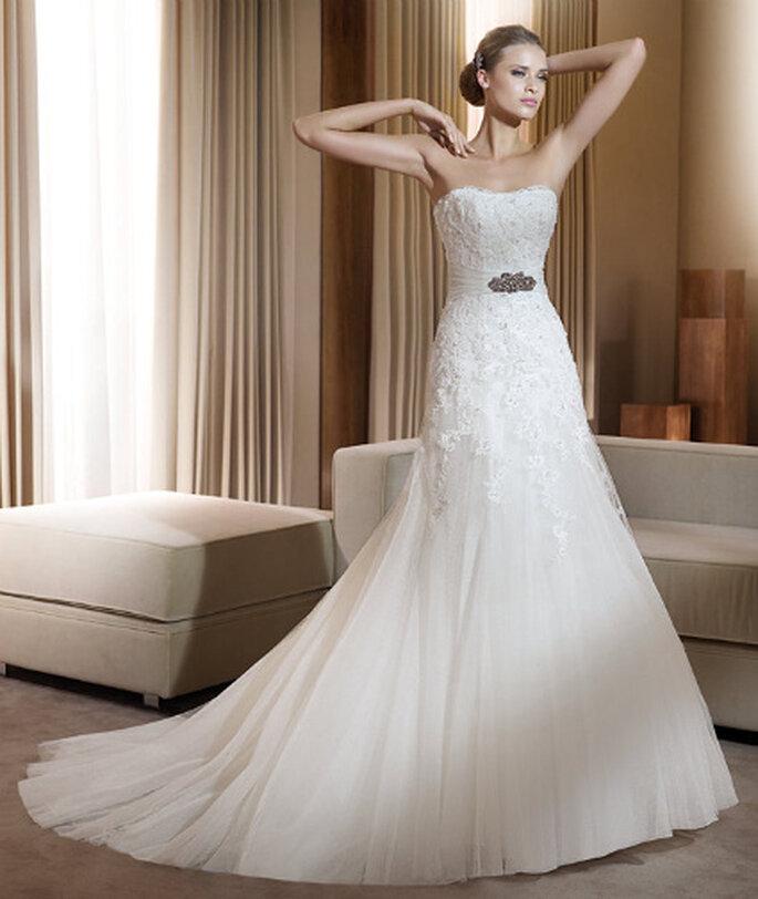 Pronovias 2011, un vestido de novia que cumple con las tendencias para este año