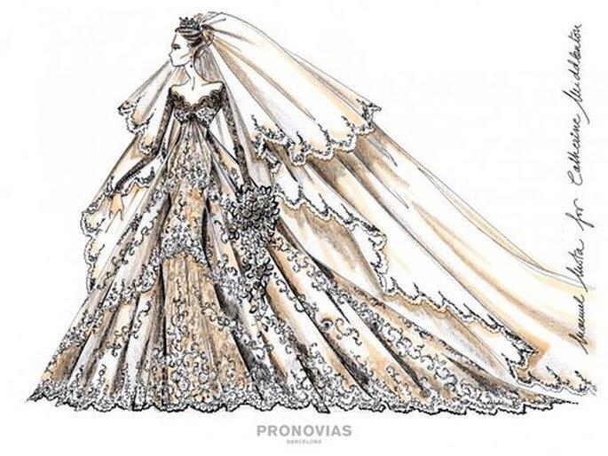 Mais uma proposta Pronovias para Kate Middleton