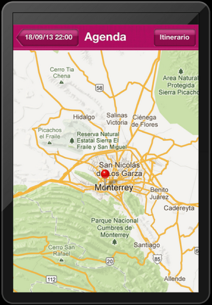 Integra un mapa e itinerarios desde nuestra aplicación para tu boda