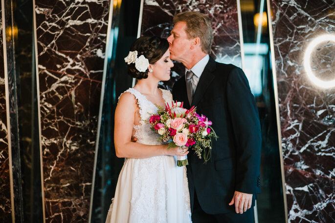 Noiva e pai da noiva