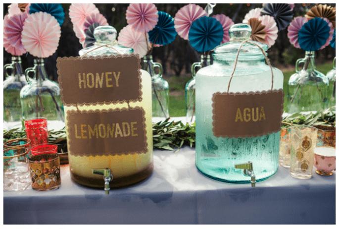 Bebidas originales para una boda perfecta - Foto Paige Newton