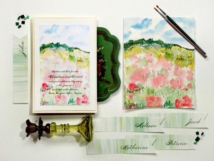 A watercolour inspired wedding - Photo: Momental Designs