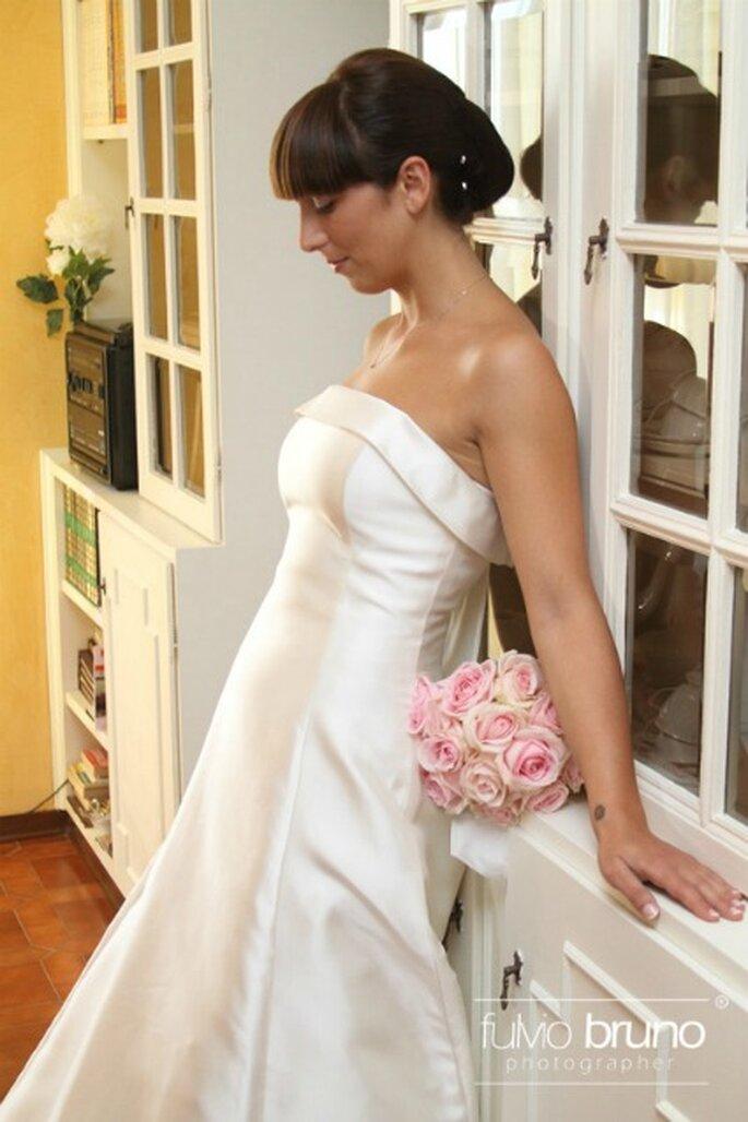 Un primo piano della nostra sposa Federica. Foto di Fulvio Bruno