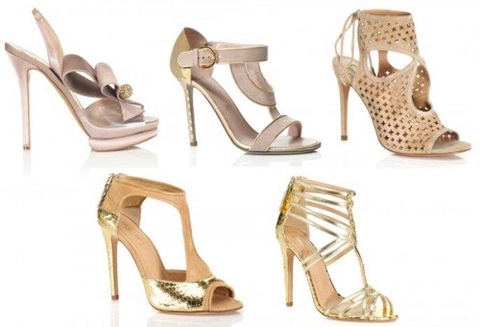 Zapatos para novias 2013 en color nude y dorado - Foto M'oda 'Operandi