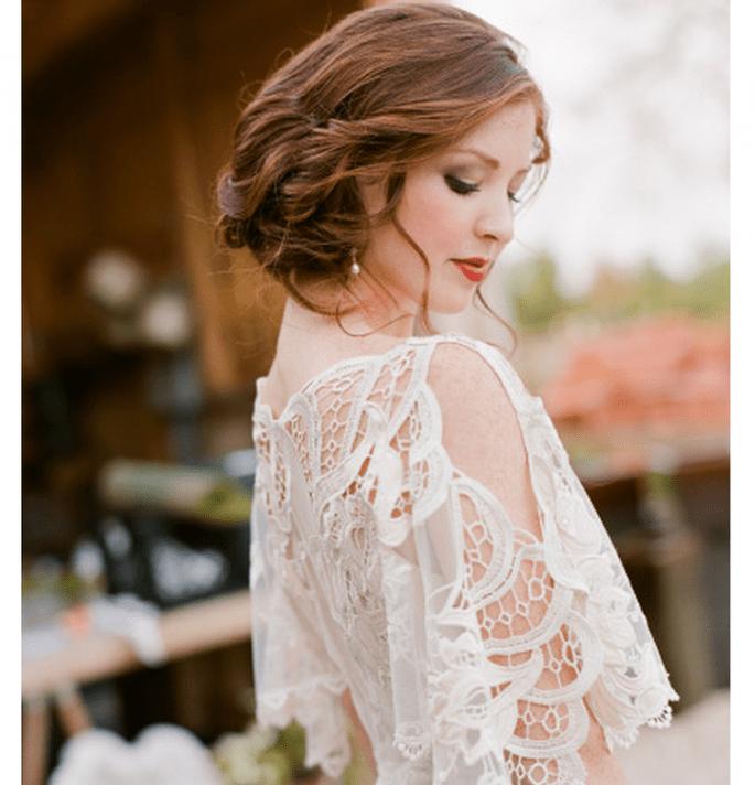 Inspiración para una novia glam y con estilo chic - Foto Jen Fariello