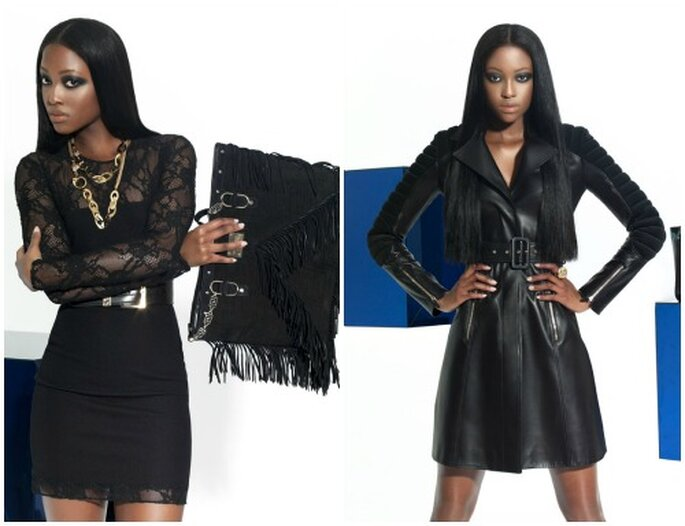 Due proposte della Collezione AI 2012-13 di Versace. Foto www.versace.com