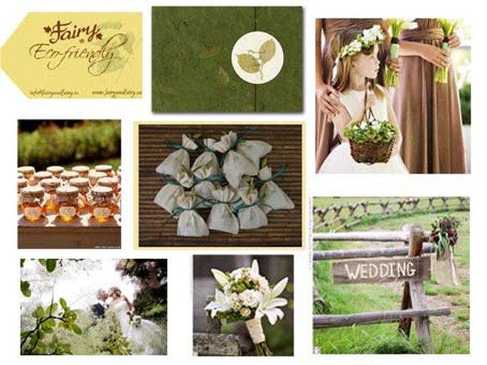Tante idee per un matrimonio ecologico in campagna. Foto: fairyandfairy.eu