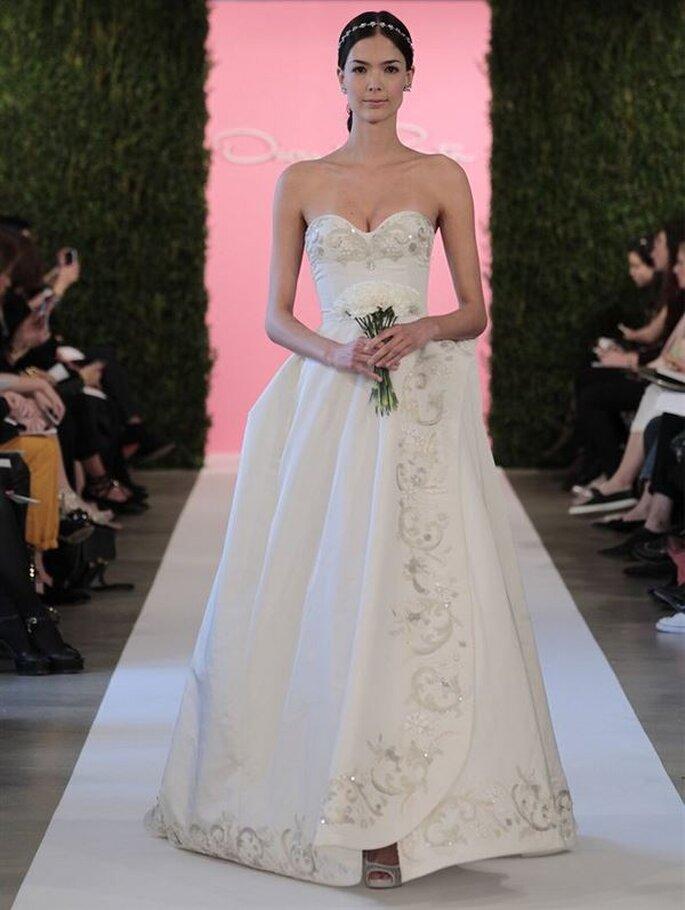 Oscar De La Renta 2015 suknia ślubna serduszko
