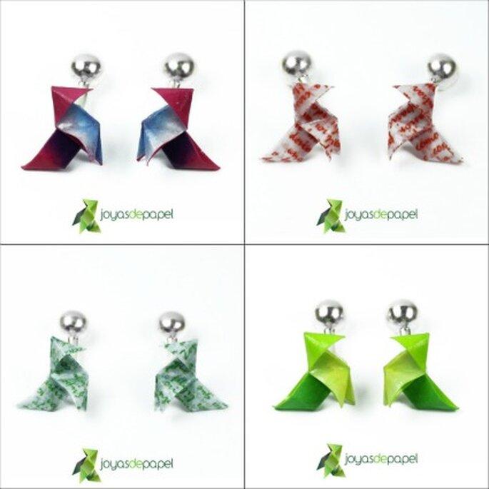 Gemelos de pajarita para los hombres, de color granate, letras rojas, letras verdes y verdes - Joyas de Papel