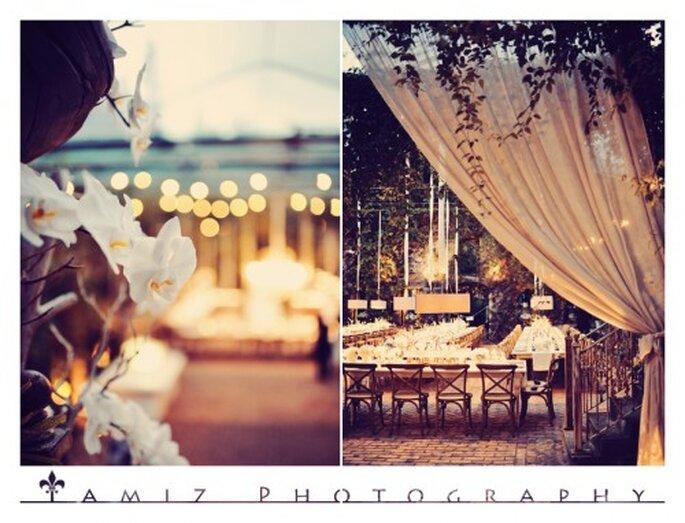 Detalles elegantes en la decoración del banquete - Foto Tamiz Photography