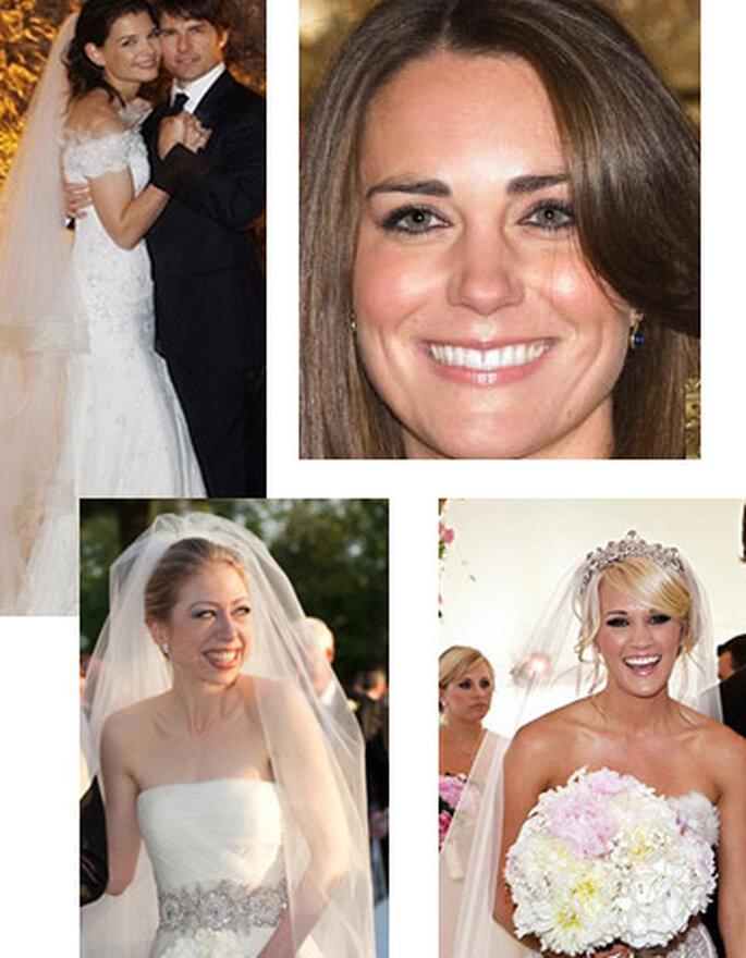 Las famosas usan dos vestidos en su boda