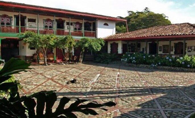 Arquitectura típica del Eje Cafetero alojamiento hotelero