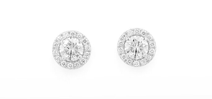 brincos ouro branco diamantes H.Stern