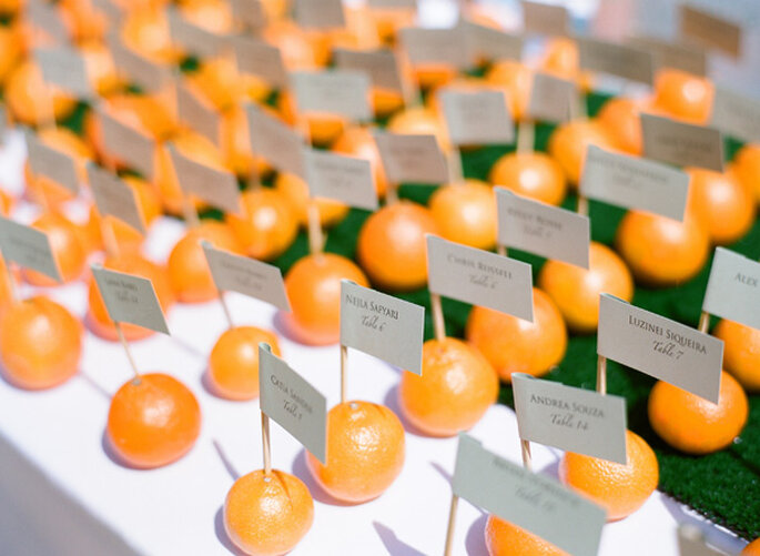 Fruits in your wedding decor - Photo: Lane Dittoe