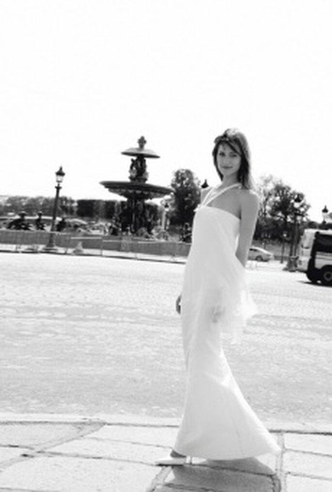 Cymbeline 2010 - Dicton, vestido de dos piezas, en seda, con tirantes asimétricos