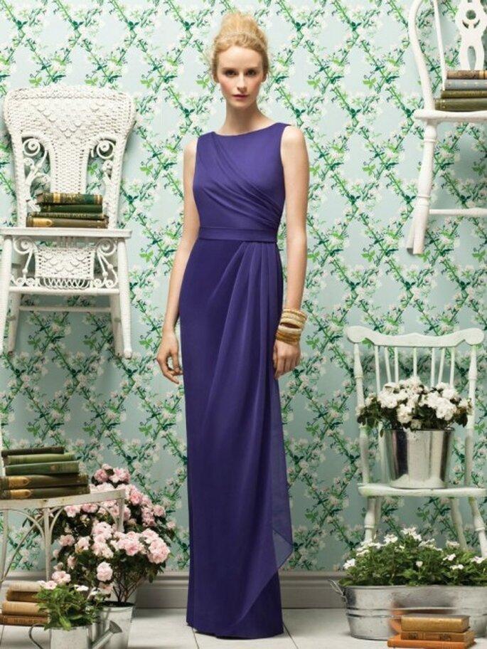 Vestido largo para damas en color azul marino - Foto Dessy