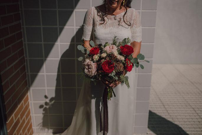 Marta & Bruno - vestido e bouquet