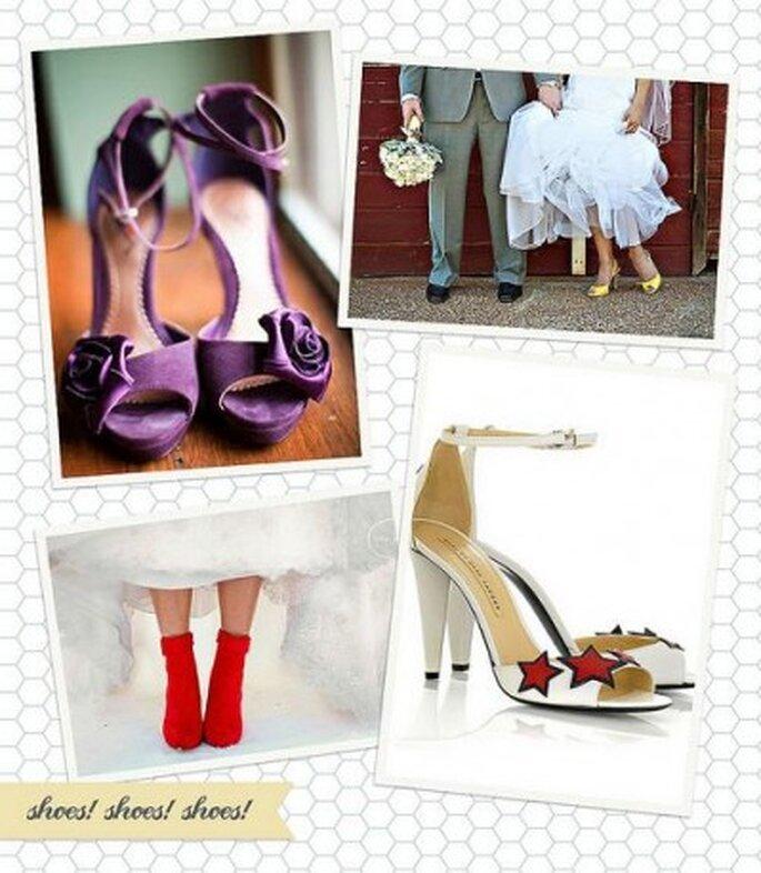 Zapatos de novia originales. Foto: Happy Serendipity