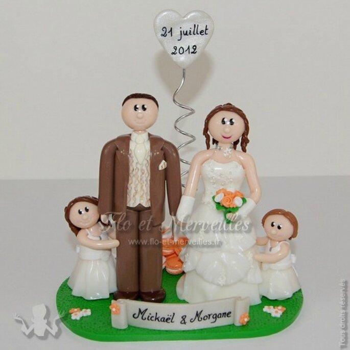 Les figurines personnalisées vont faire sensation sur votre pièce montée - Photo : Flo et Merveilles