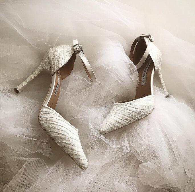 Paulina C Menendez zapatos de novia